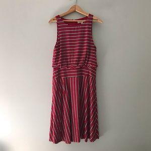 NWT loft stripe sleeveless dress size m